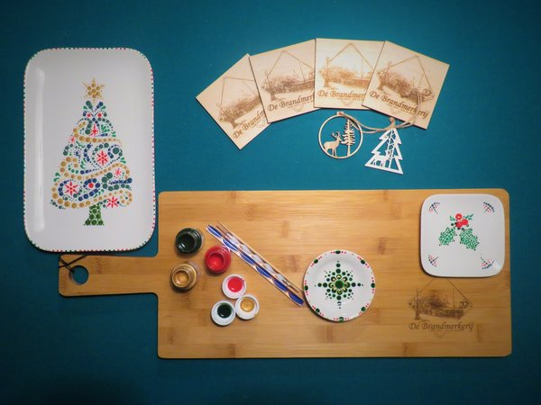 workshop 3: Kerst-stippen met porseleinverf